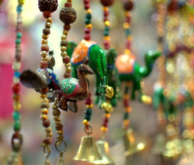 Wall and Door Hangings sold at Pushkar, Camel and Peacock. Loving my new lens Nikon 35mm