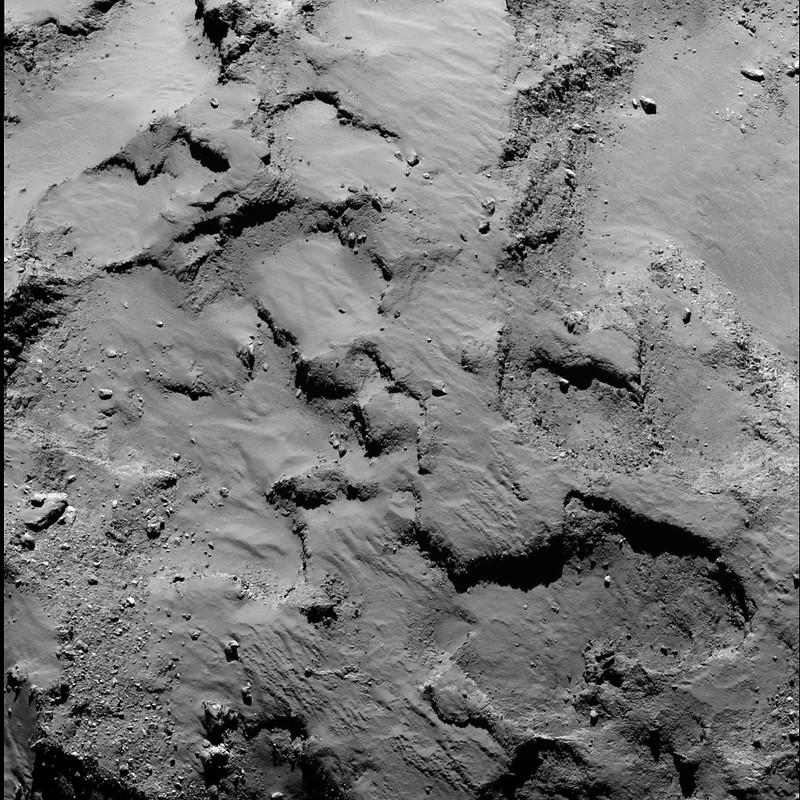 Philae's primary landing site from 30 km (b)