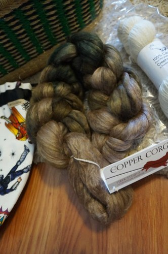 Alpaca/silk fiber from Copper Corgi