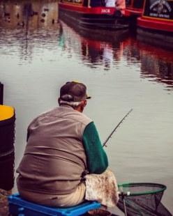 Fishing on Skipton canal basin.  #fishing #skipton #canalside #canal #canalbasin