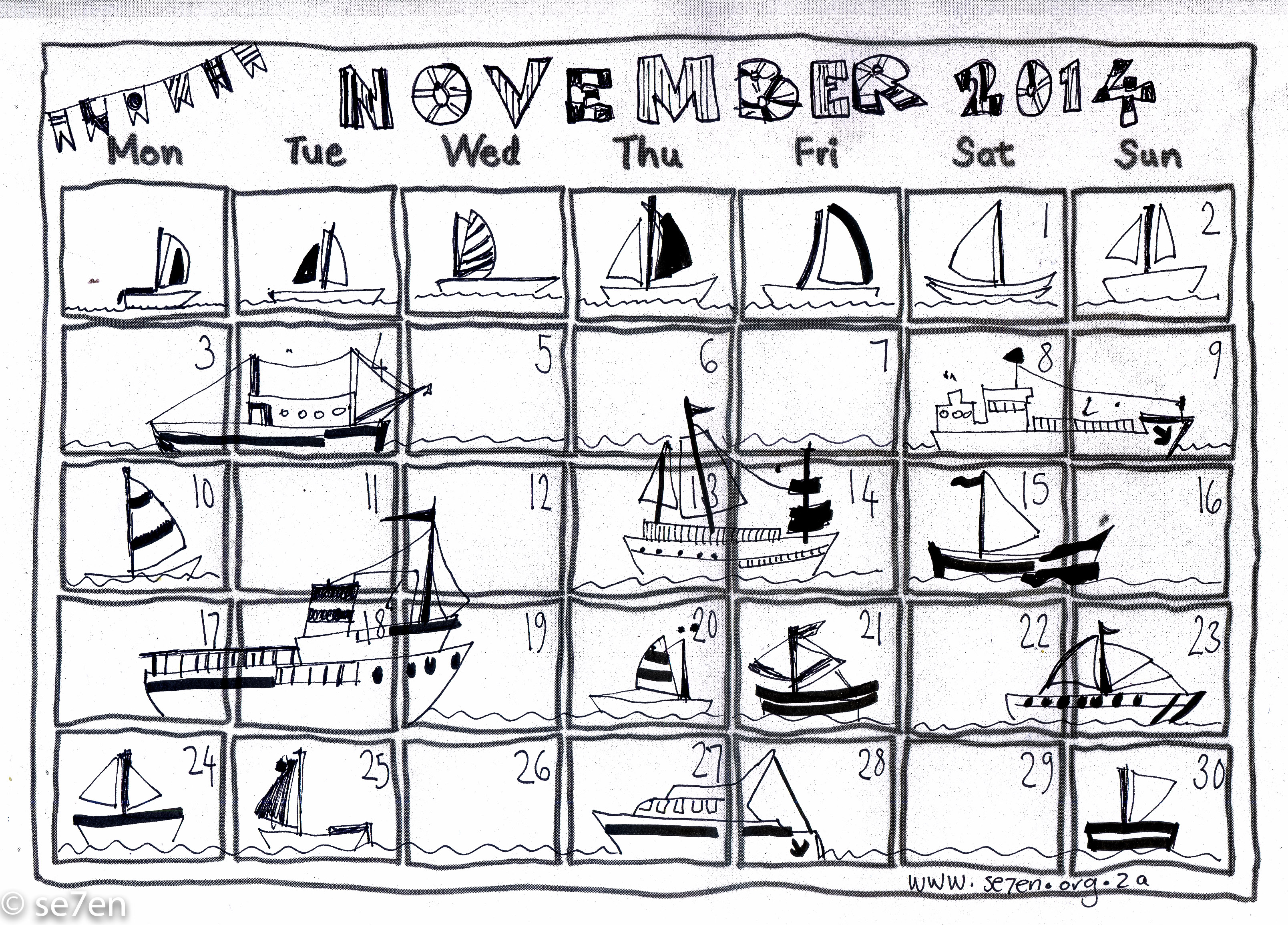 Se7en S November And Your Free Printable Calendar Se7en
