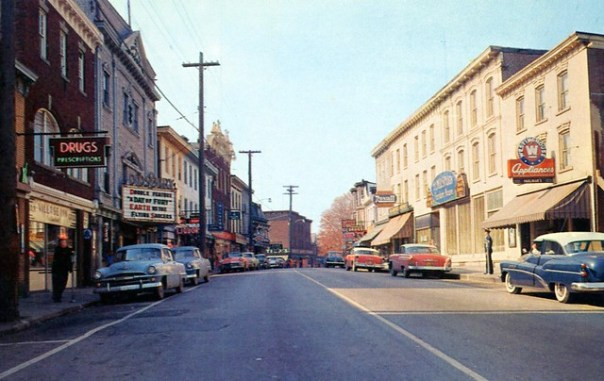 Main Street looking west - Walden, New York U.S.A. - 1950s