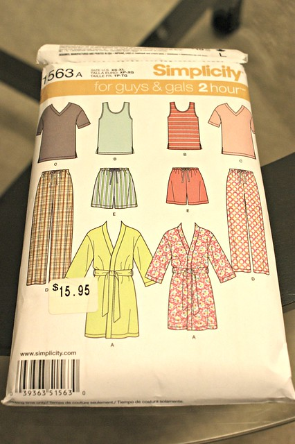 pattern packet for pyjamas
