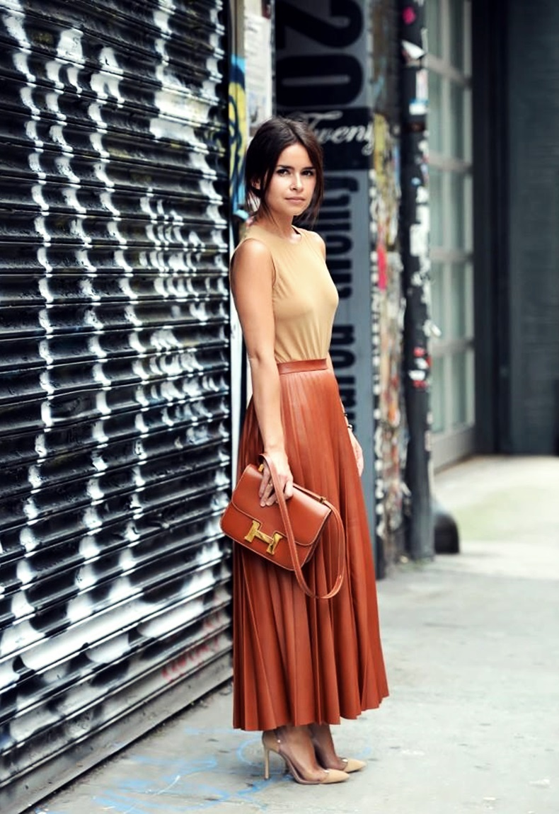 midi and pleated skirt miroslava duma