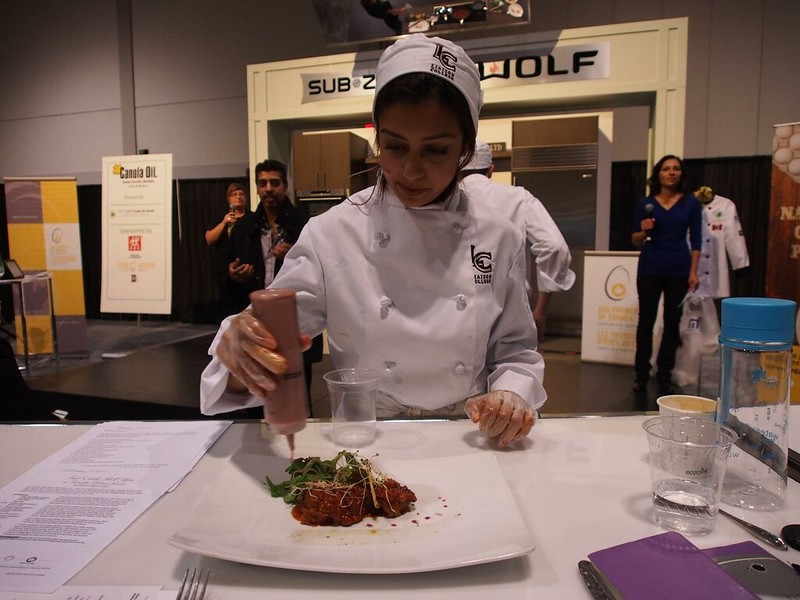 Liaison College Oakville team presents Veal Cutlet Roll-ups in Tomato Wine Sauce