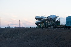 Soyuz spacecraft rollout