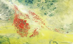 Proba-V images desert irrigation