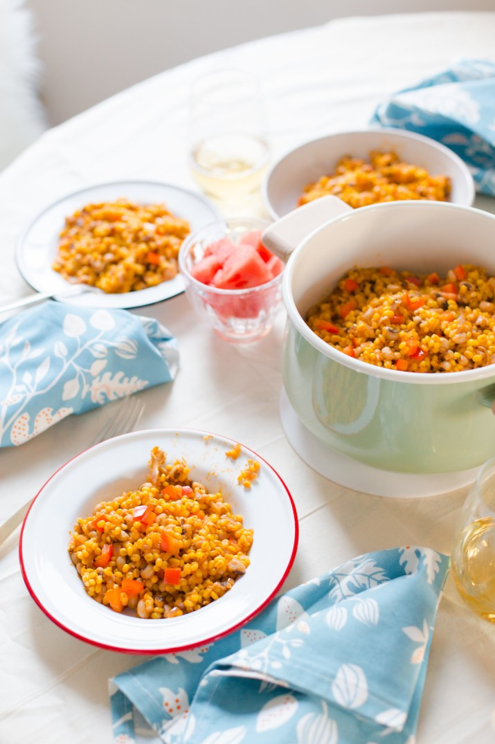 Saffron Barley with Black-Eyed Peas