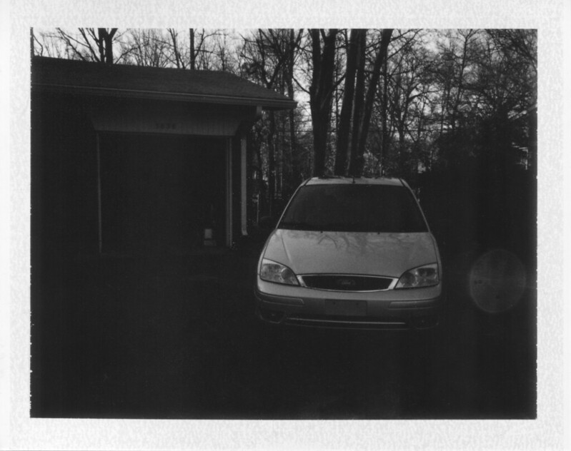 In the driveway