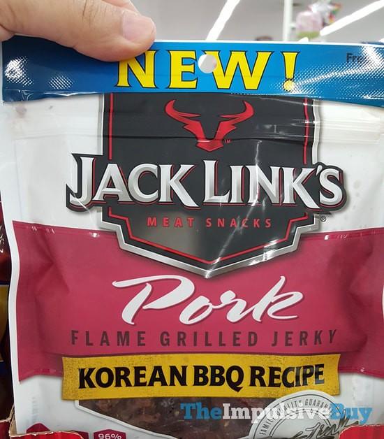 Jack Link's Korean BBQ Recipe Pork Jerky
