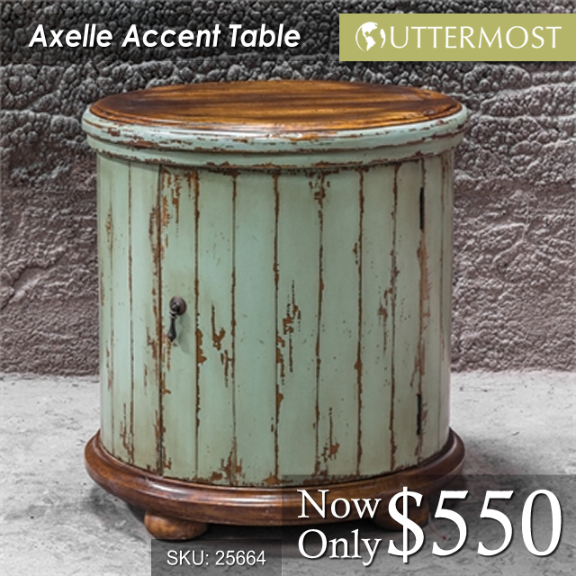 25664 Axelle Accent Table $550