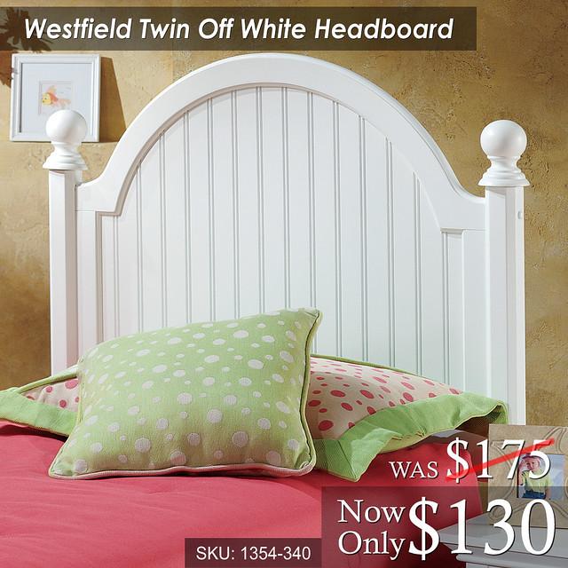 Westfield Twin Off White Headboard (1354-340) Was 175 Now 130