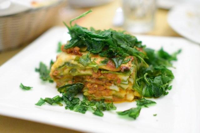 "Lasagna verde ""Omaggio Nonna Elvira"", spinach pasta, besciamella, beef & veal ragu"
