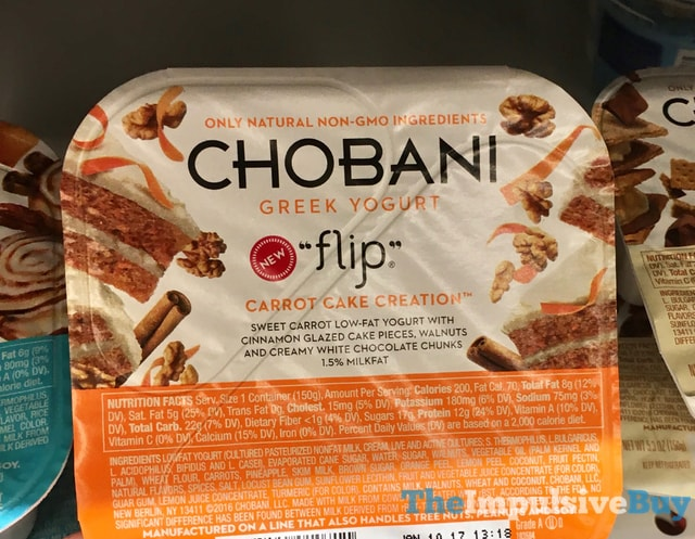 Chobani Flip Carrot Cake Creation Greek Yogurt