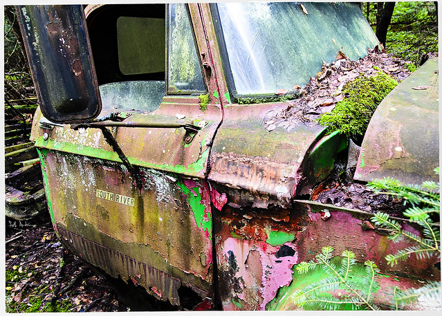 Remnants of a Red Truck