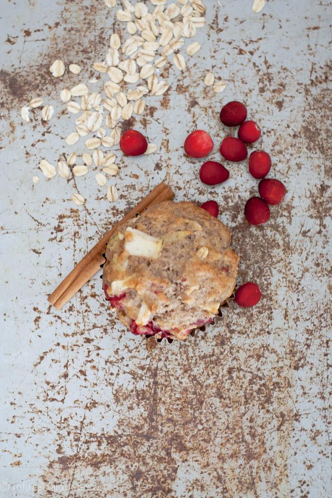 Cranberry Apple Muffins | www.infinebalance.com #recipe