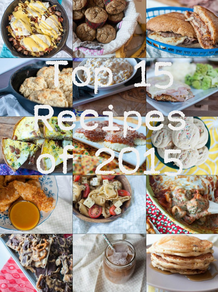 Top 15 Recipes of 2015 with Text
