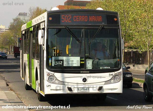 Transantiago - Metbus / Buses Metropolitana - Caio Mondego H / Mercedes Benz (BJFX83) (546)