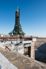 Soyuz launcher on the launch pad