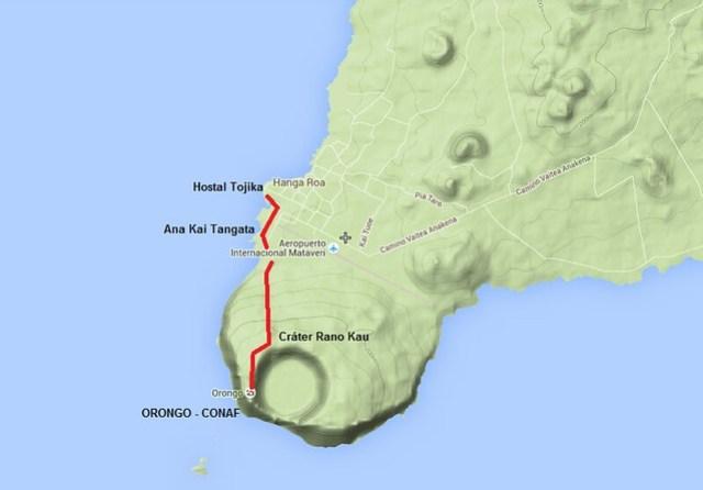 Camino a Orongo