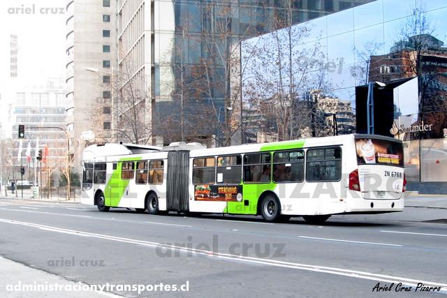Transantiago - Express de Santiago Uno - Busscar Urbanuss / Volvo (ZN6768)