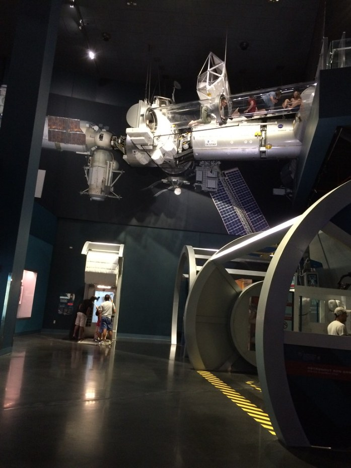 Oh Yes I Did - 25 feet Above the Ground - Space Shuttle Atlantis Exhibit. Kennedy Space Center Visitor Complex, Oct. 10, 2015