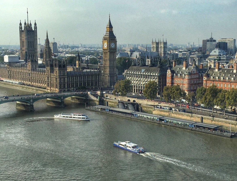 London Westminster from London Eye