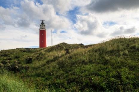 Texel Lighthouse on a autumn Sunday