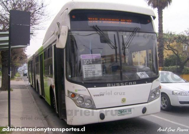 Transantiago - Inversiones Alsacia - Busscar Urbanuss / Volvo (ZN5418)
