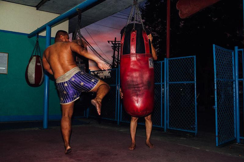 Punch bag man
