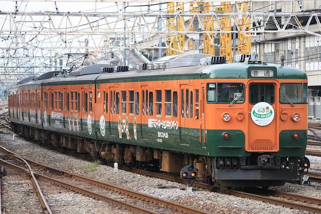 Series 115 at Takasaki Sta.