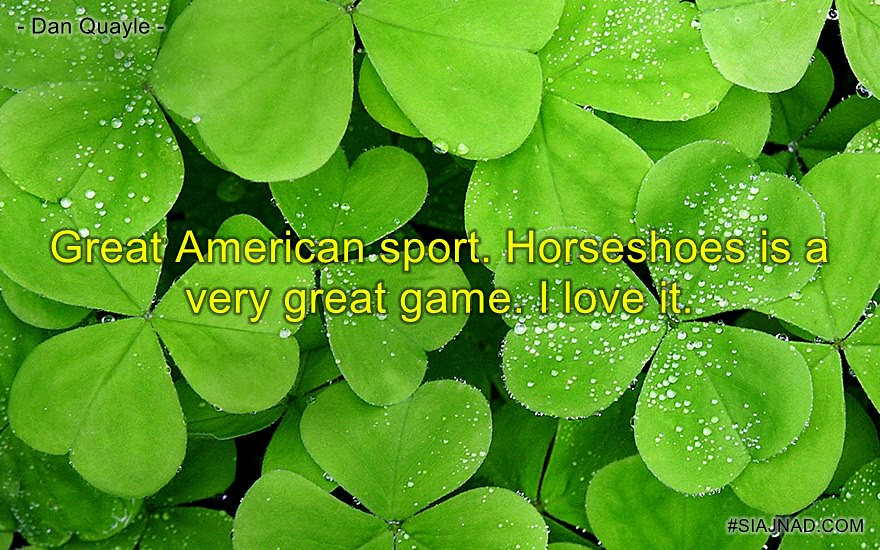 Great American sport Horseshoes is a very great game I love it