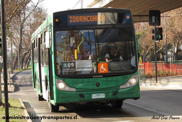 Transantiago - Buses Vule / Nueva Milenio - Caio Mondego H / Mercedes Benz (CJRB23) (653)