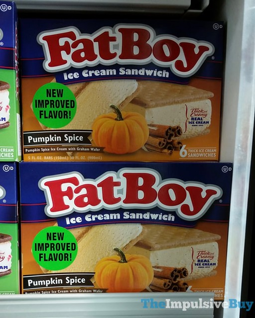 Fat Boy Pumpkin Spice Ice Cream Sandwich