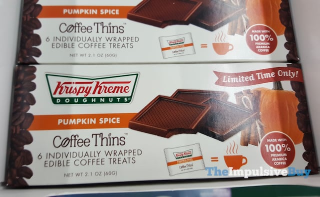Krispy Kreme Pumpkin Spice Coffee Thins