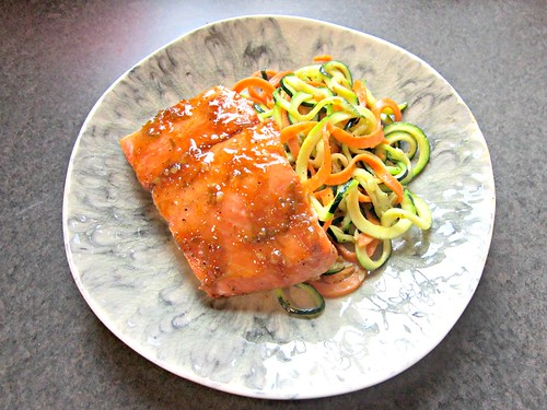 Salmon and Zoodles