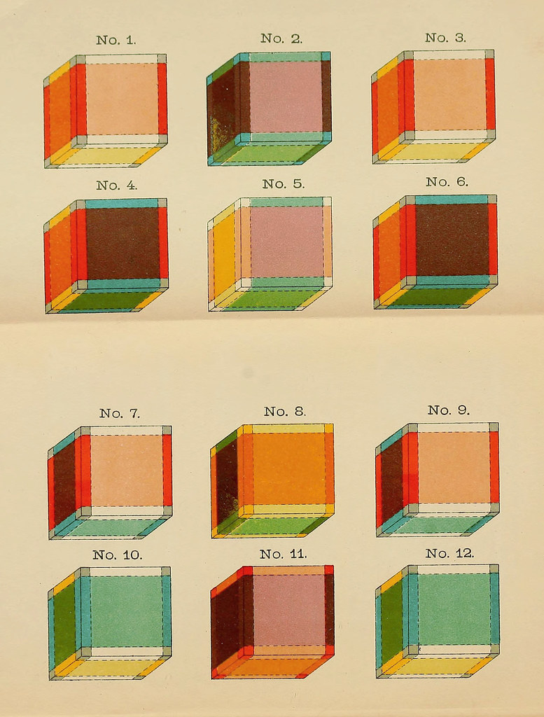 hight resolution of the coloured cubes known as tesseracts as depicted in the frontispiece to hinton s the fourth dimension 1904 source want it as a poster buy it