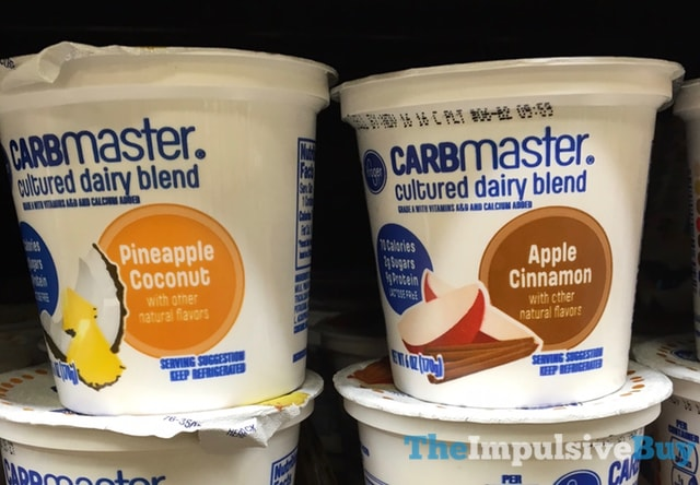Kroger Carbmaster Cultured Dairy Blend (Pineapple Coconut and Apple Cinnamon)
