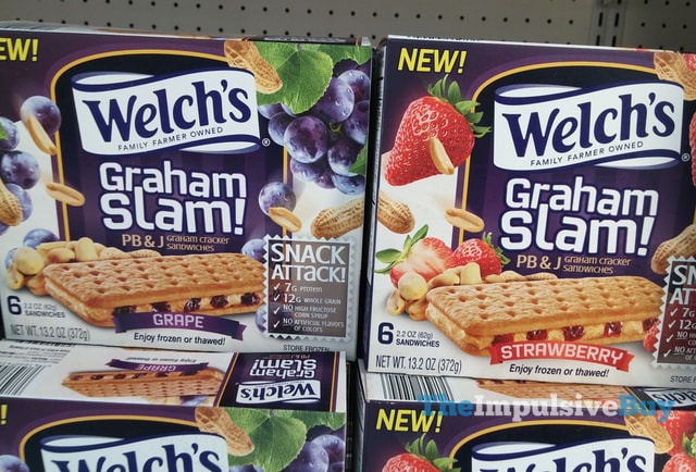 Welch's Graham Slam! PB & J Graham Cracker Sandwiches