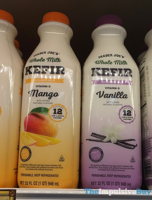 Trader Joe's Whole Milk Mango and Vanilla Kefir