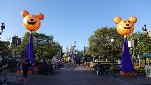 Decor at Disneyland Halloween Party