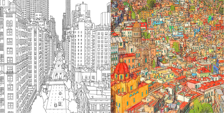 Fantastic Cities 11 Beautiful Adult Coloring Books
