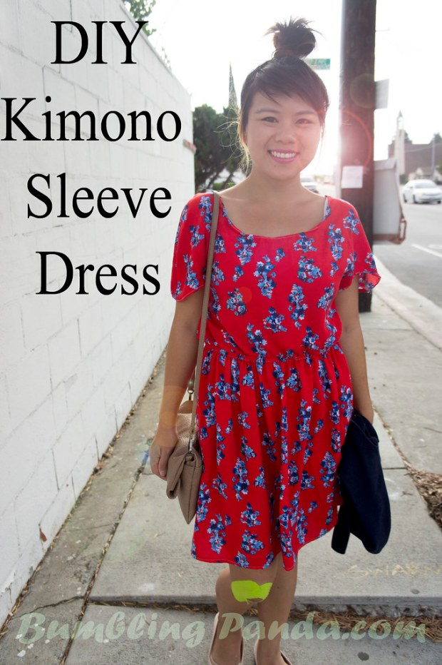 Scoop Sleeve Kimono Sleeve Dress DIY