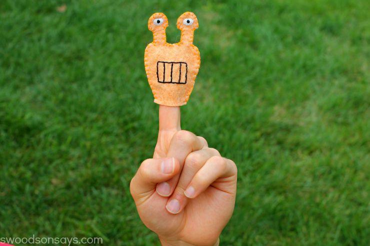 Orange Monster Finger Puppet - Free Pattern