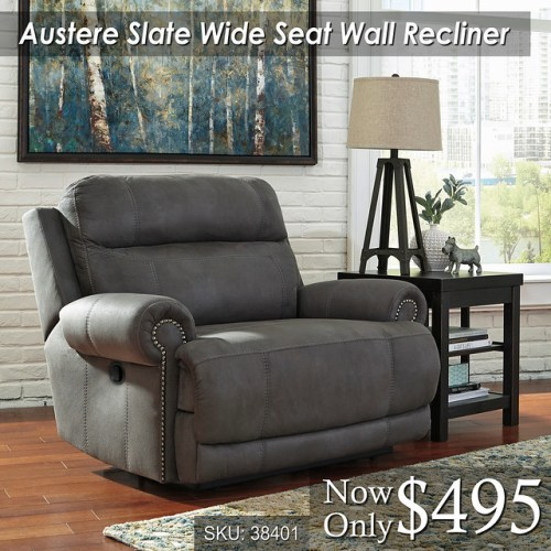 Austere Wide Seat Wall Recliner