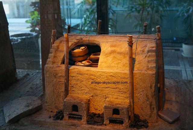 陶瓷博物館の窯のミニチュア