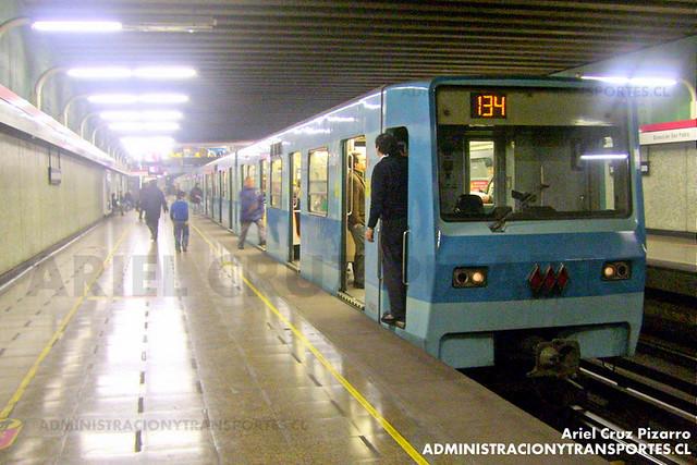 Metro de Santiago - Alsthom NS74 - San Alberto Hurtado (Línea 1)