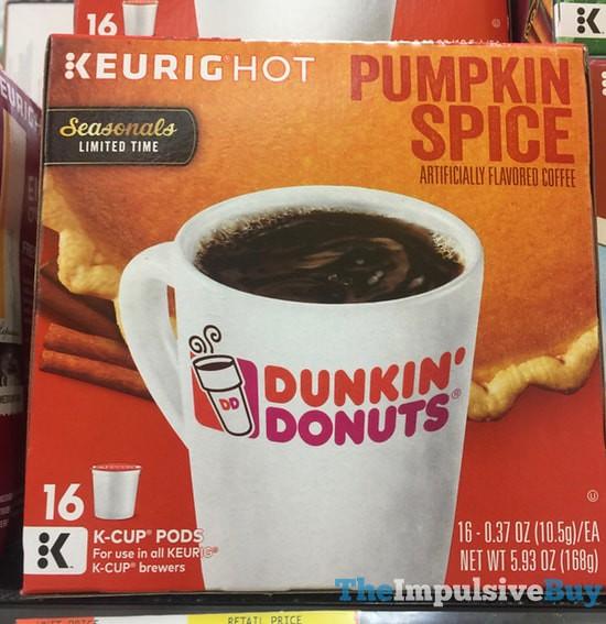 Dunkin' Donuts Seasonals Pumpkin Spice K-Cups