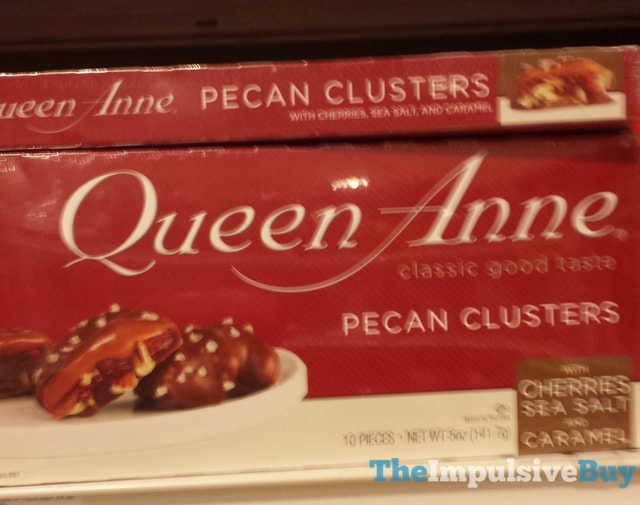 Queen Anne Pecan Clusters with Cherries, Sea Salt, and Caramel
