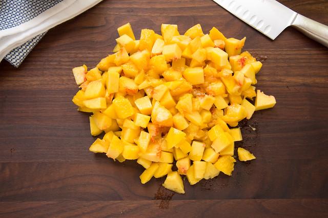 diced fresh peaches